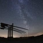 A Hortobágy éjjel (Négygémű kút Mátán, Ladányi Tamás felvétele)