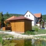 Csillagda épülete, kert, kerti tó