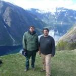 Molnár Antal a Zöld Kör elnöke és Gyarmathy István titkárunk a Hardangenfjord mellett