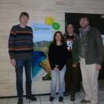 Delegációnk vendéglátójával a Föld Barátai Norvégia oslói irodája előtt