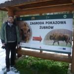 A bölényrezervátum bejáratánál