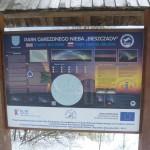 A csillagoségbolt-park tájékoztató táblája
