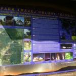 A csillagpark tanösvény részeként az itt áthaladó 49. szélességi kör táblája